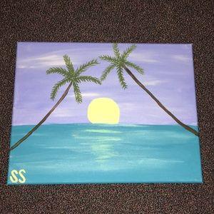 Blue Beach Painting